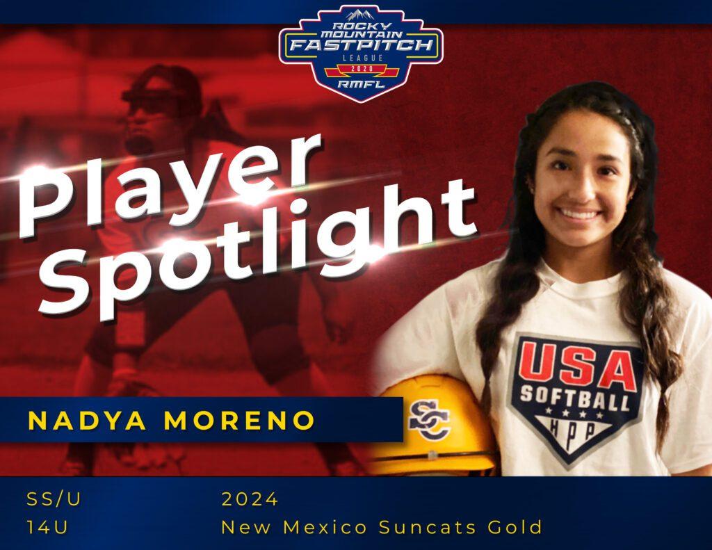 Nadya Moreno Rocky Mountain Fastpitch Player Spotlight copy