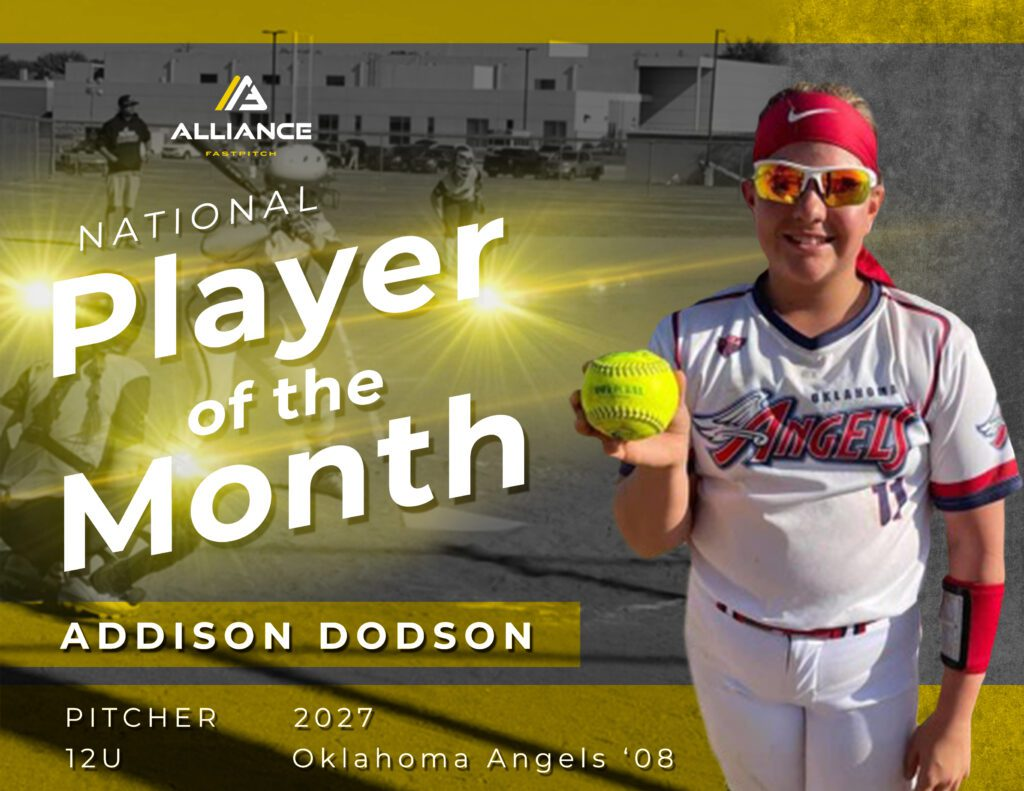 Alliance Player of the Month Addison Dodson
