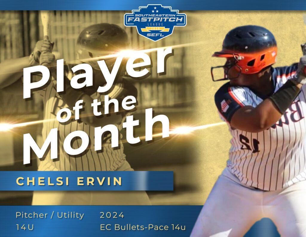 Chelsi Ervin Southeastern Fastpitch Player Spotlight